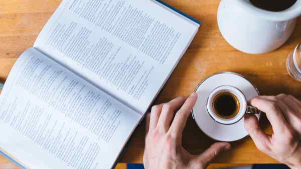 Coffee and Open Book