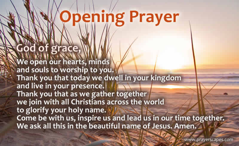 Opening Prayer For A Worship Service