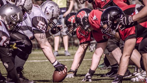 American Football players in match