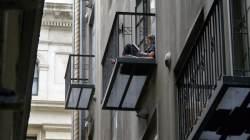 Student on balcony